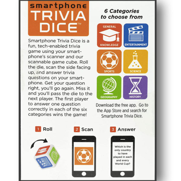 Smartphone Trivia Dice