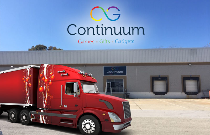 Continuum Games fulfillment trucking services