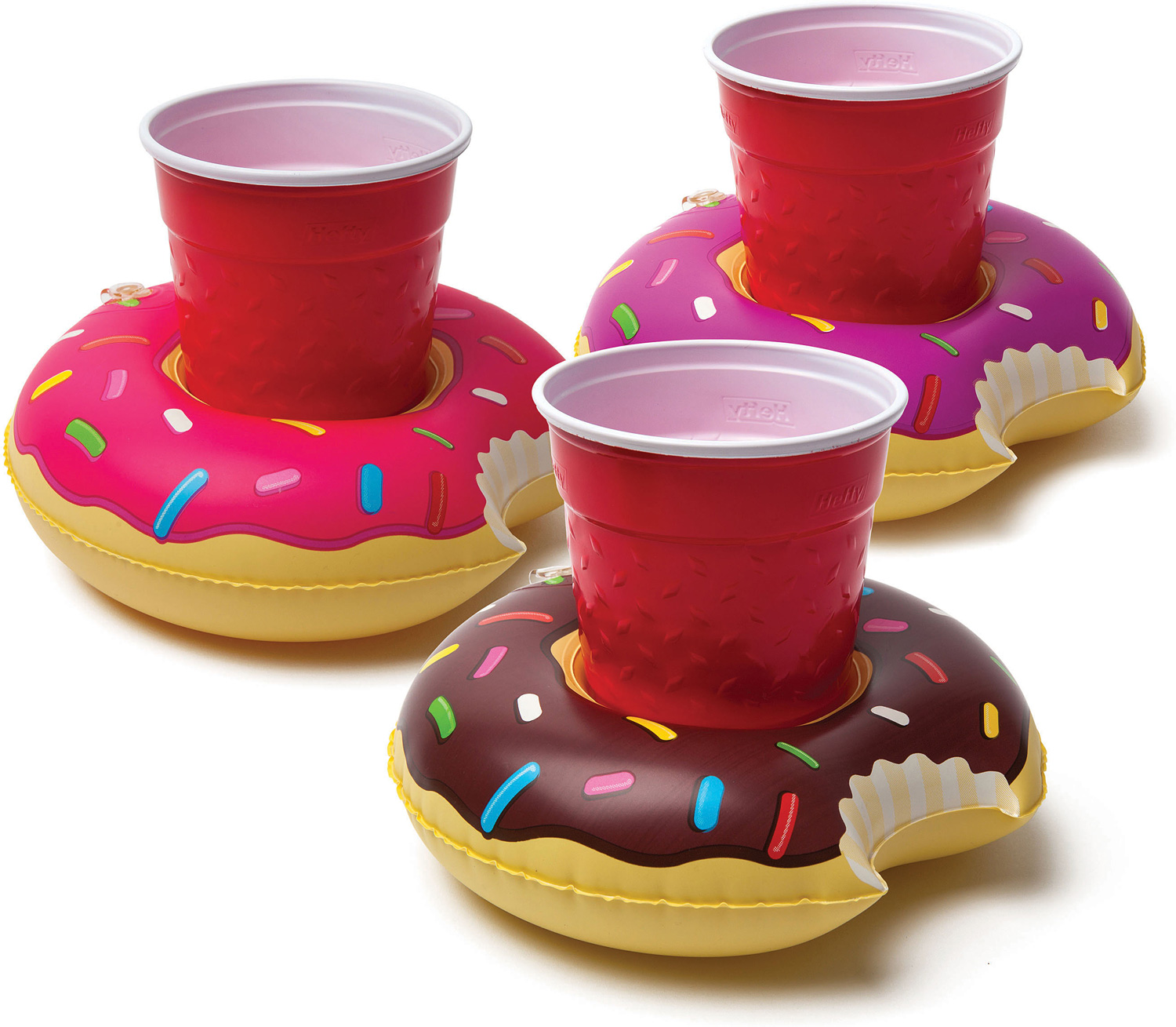 Frosted Donuts Beverage Boats 3 pack