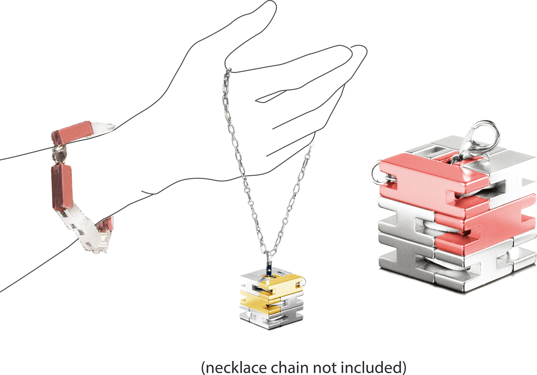 Bracelet Cube - Silver / Rose Gold