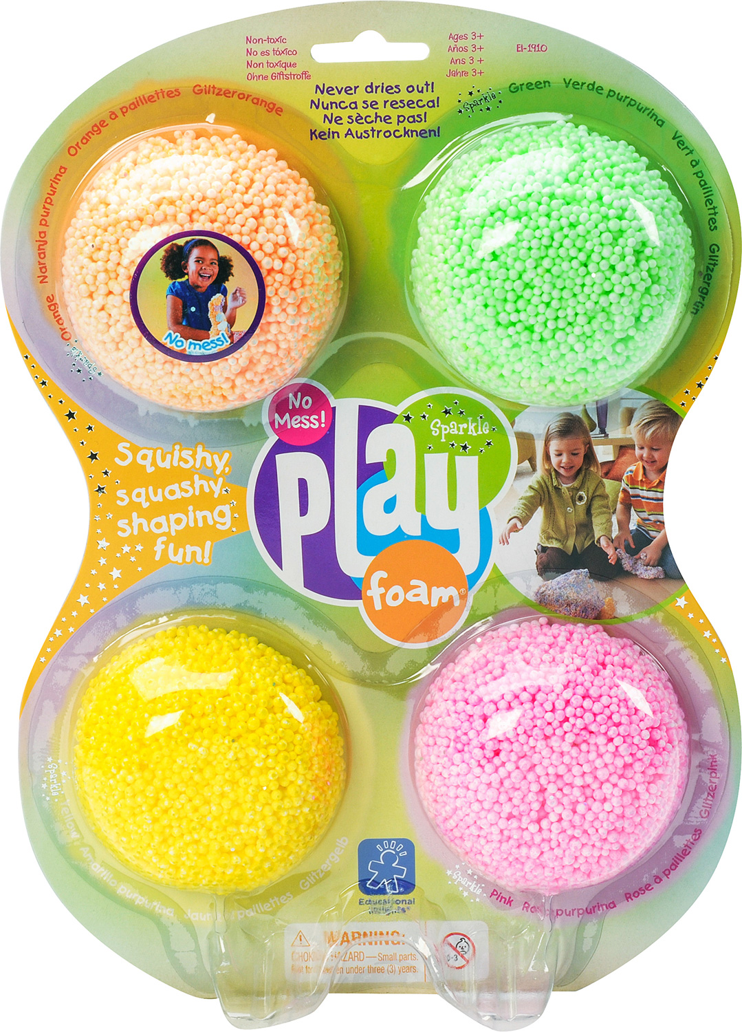 4 PACK SPARKLE PLAYFOAM