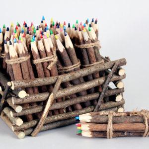 Natural Twig Colored Pencil Set