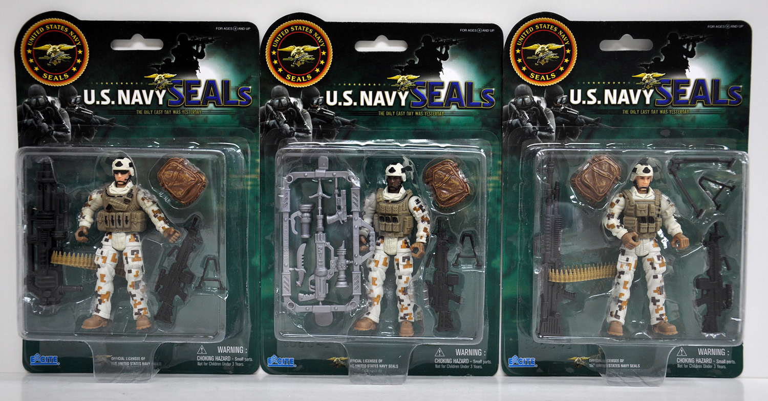 US Navy Seals Figure with Accessories Land Gear