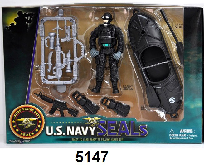 US Navy Seals Figure with 1 Man Watercraft