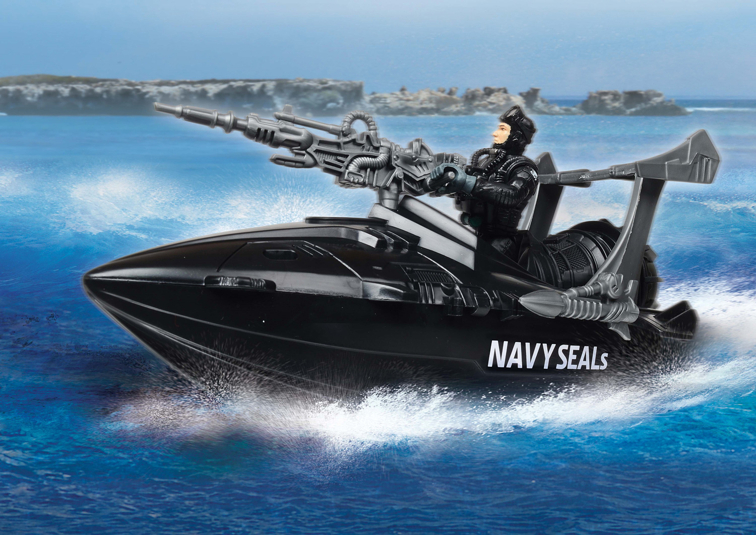 US Navy Seals Figure Speedboat Playset