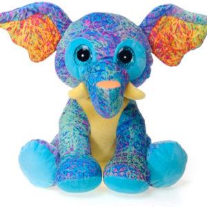 "Scribbleez 10.5"" Sitting Elephant"