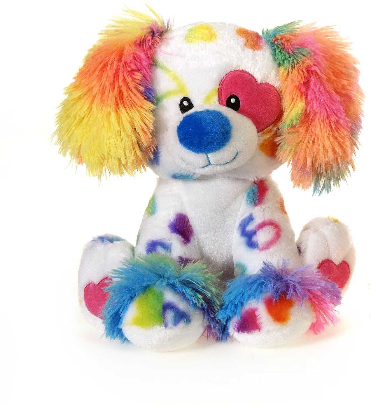 "9.5"" Rainbow sitting Dog"