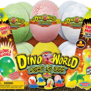 Dino World Light Up DINO EGG PDQ 12