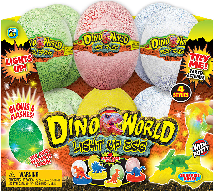 Dino World Light Up DINO EGG PDQ 12