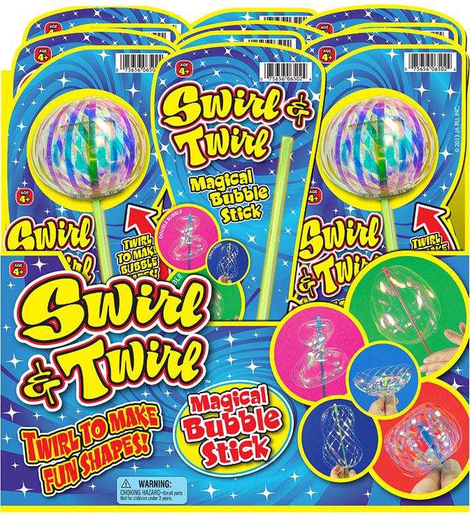 Stir & Twirl MAGIC BUBBLE Stick PDQ 24