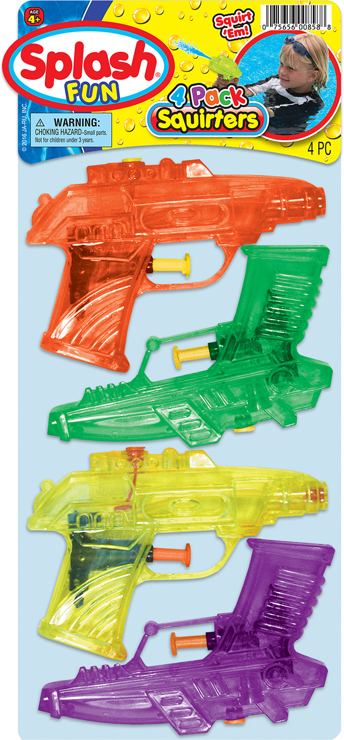 SPLASH FUN 4 PK SQUIRTERS