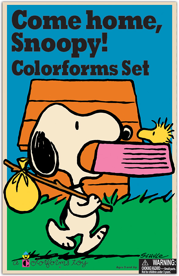 Retro Come Home Snoopy Colorforms