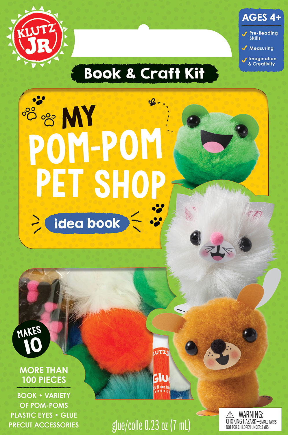 KLUTZ JR. MY POM-POM PET SHOP