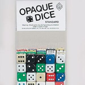 Opaque Dice 16mm