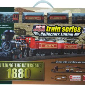 US train 1880 set BNSF(Santa Fe) Steam Locomotive