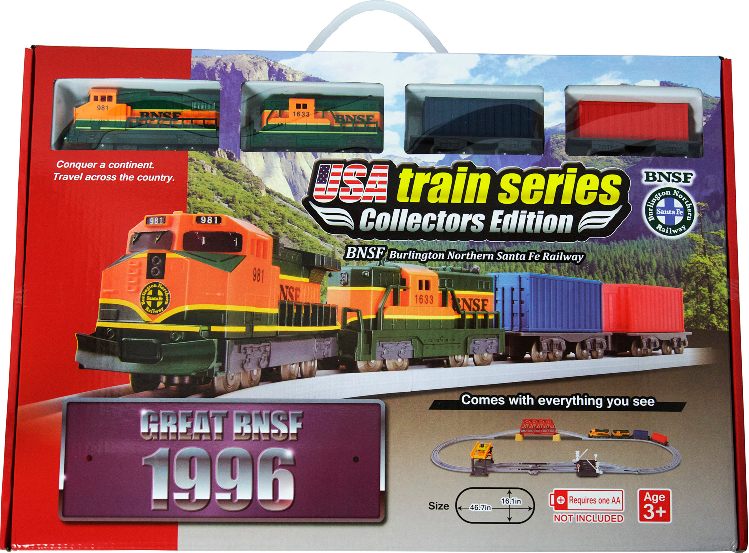 US train 1996 set BNSF Diesel Locomotive