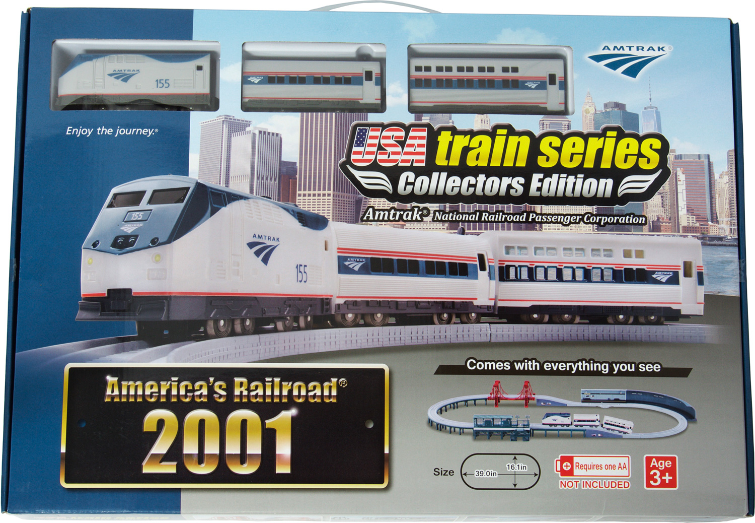 US train 2001 set Amtrak line 155
