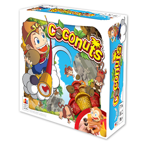 Coconuts 4 Player Monkey Dexterity Game
