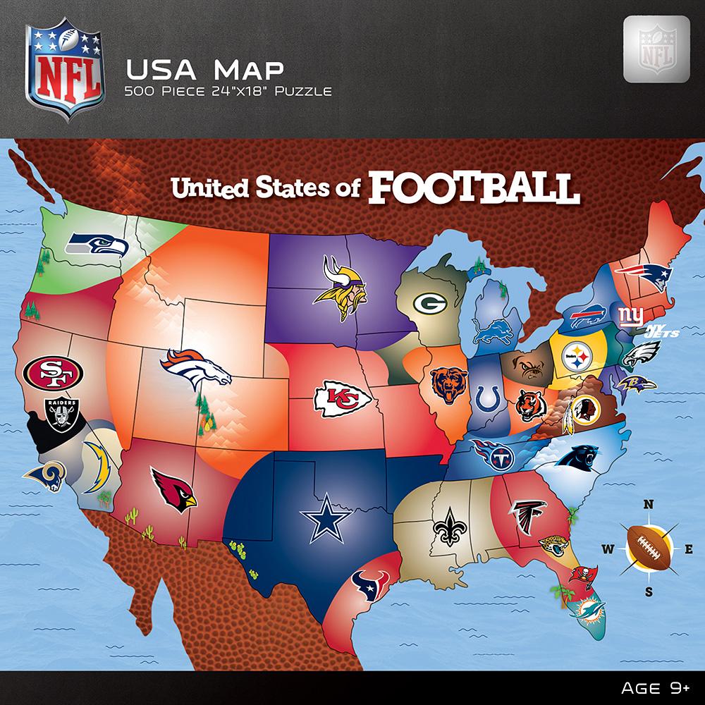NFL USA Map Jigsaw Puzzle