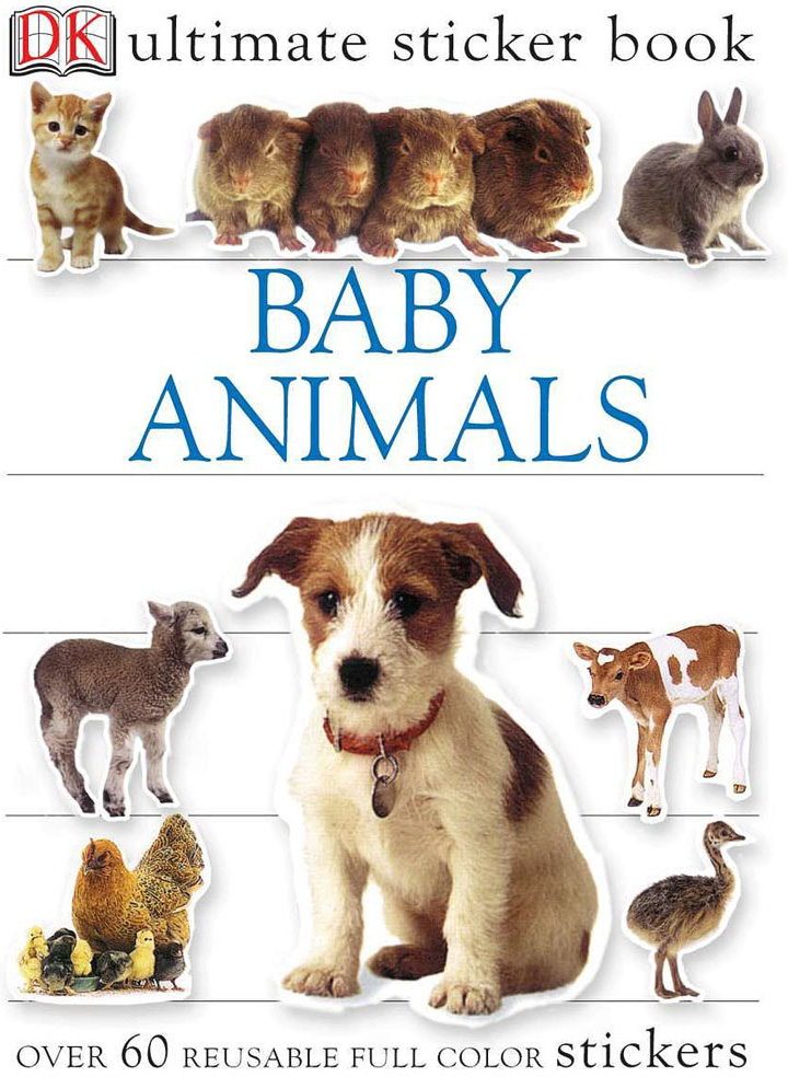 Sticker Book, Baby Animal