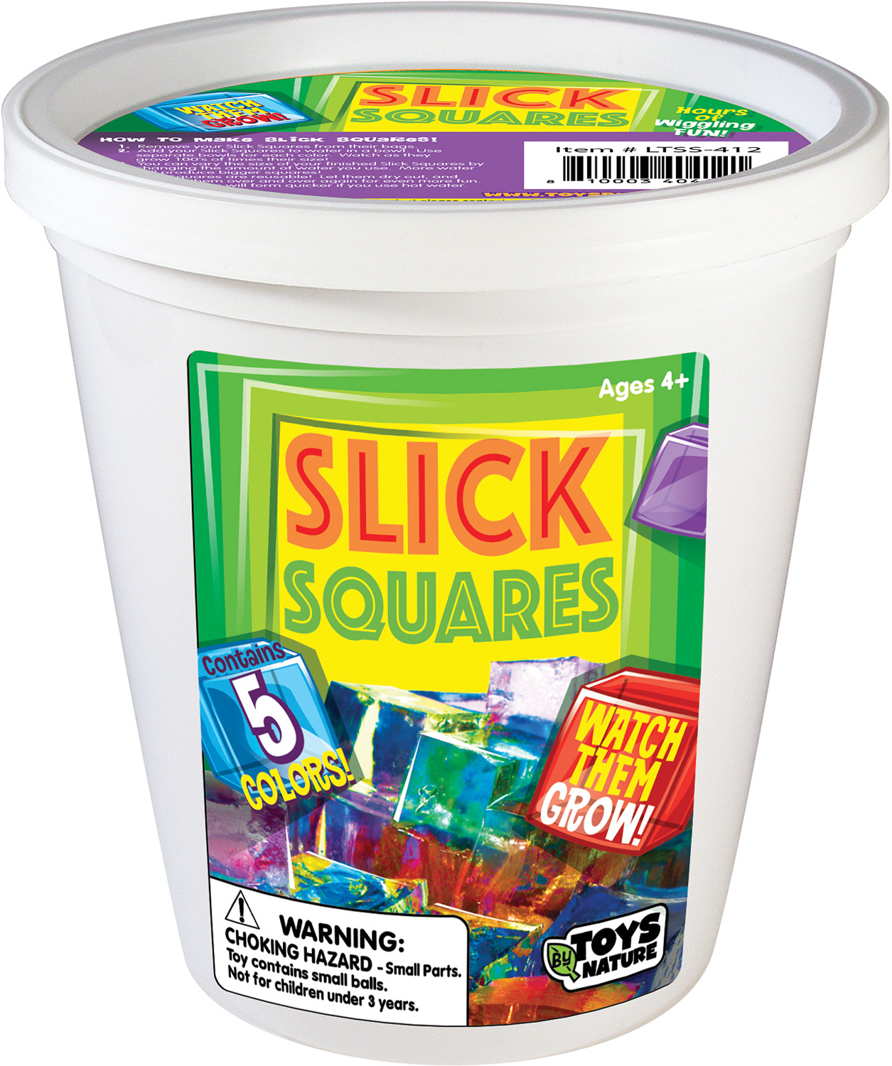 1/4 Pound Colored Slick Squares