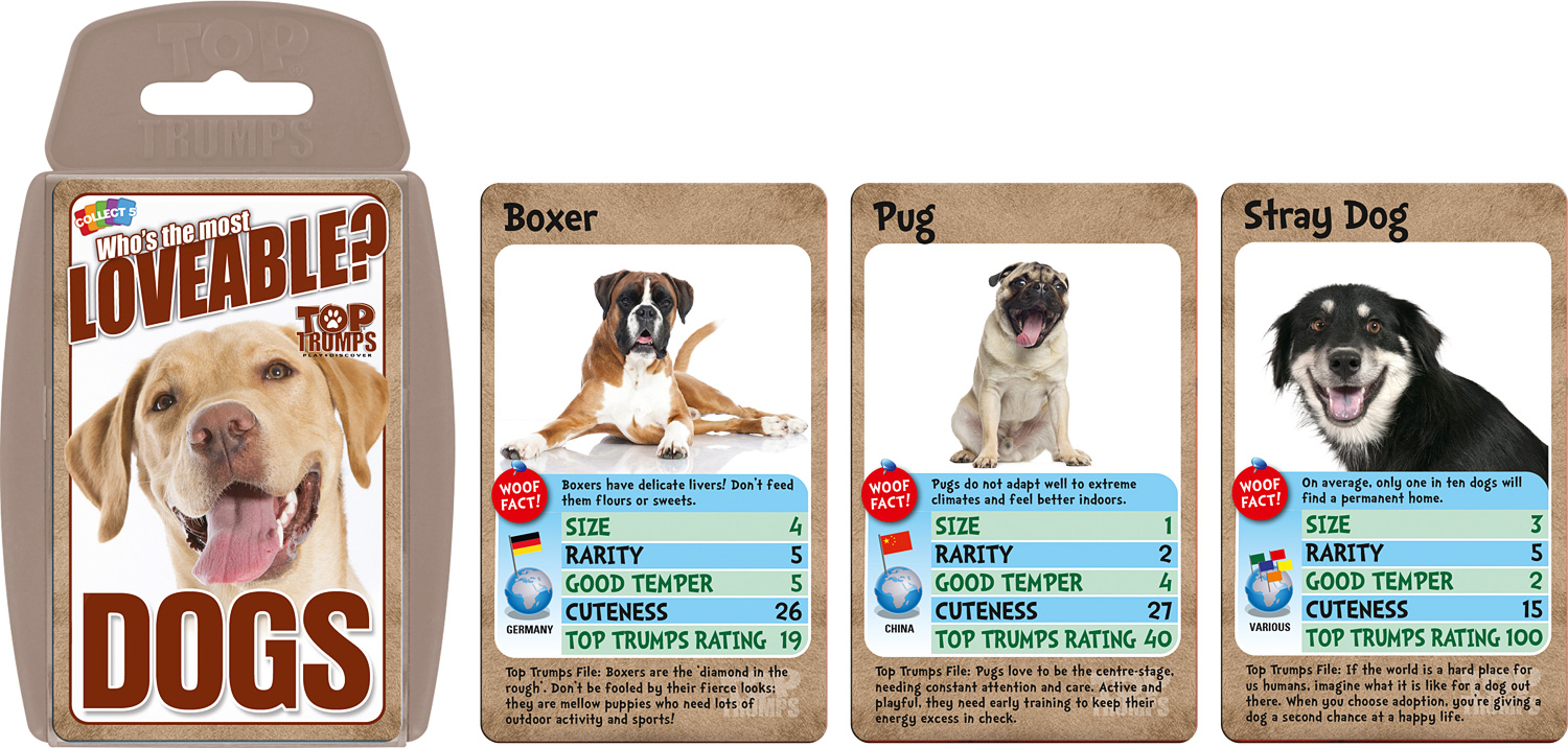 Loveable Dogs Top Trumps