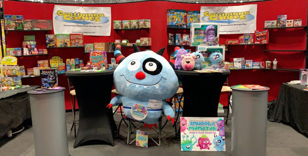 continuum games tradeshow booth for inventors